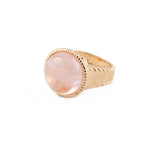 Rose Quartz Cabochon Ring