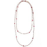Ruby Garnet Hand-wrapped Bead Necklace