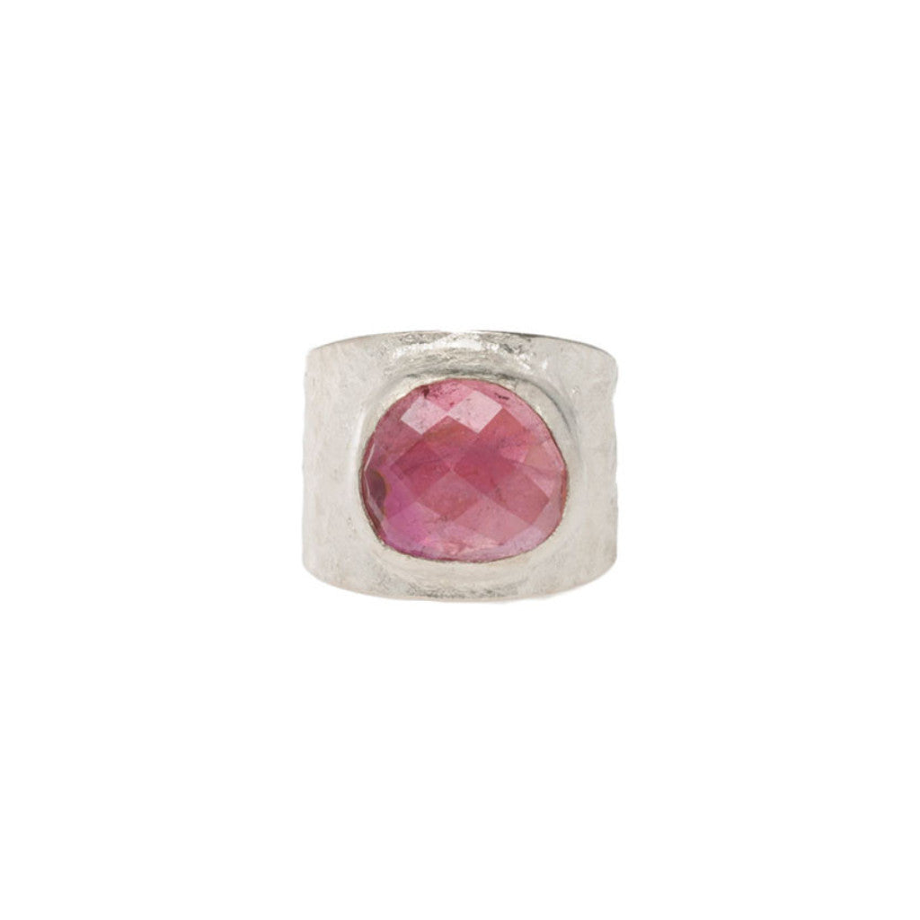 Pink Tourmaline Melt Band Ring