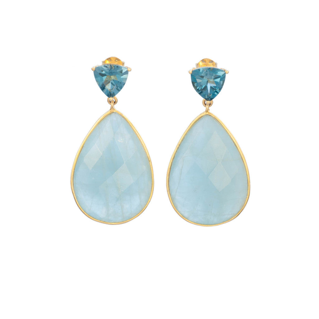 London Blue Topaz, Aquamarine Earring