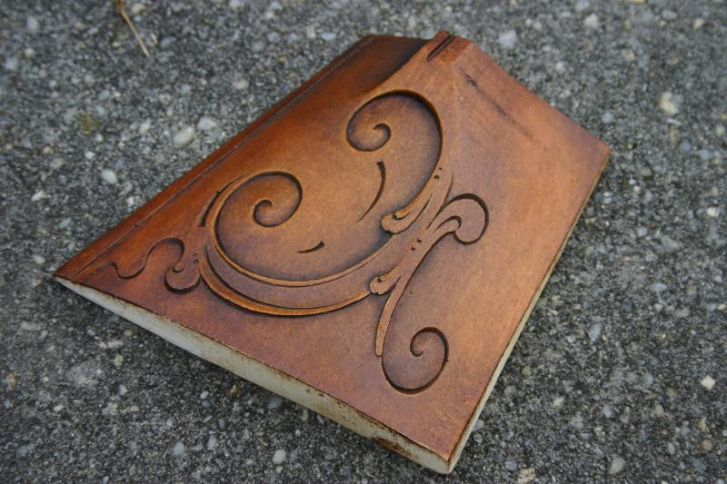 Lancaster Style Buttstock Stained and Carved Cast