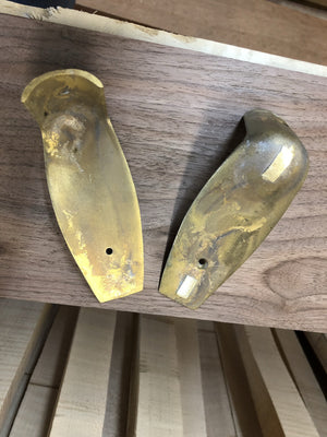 Colonial Kit Brass Buttplate, NOT notched for box lid, wax cast