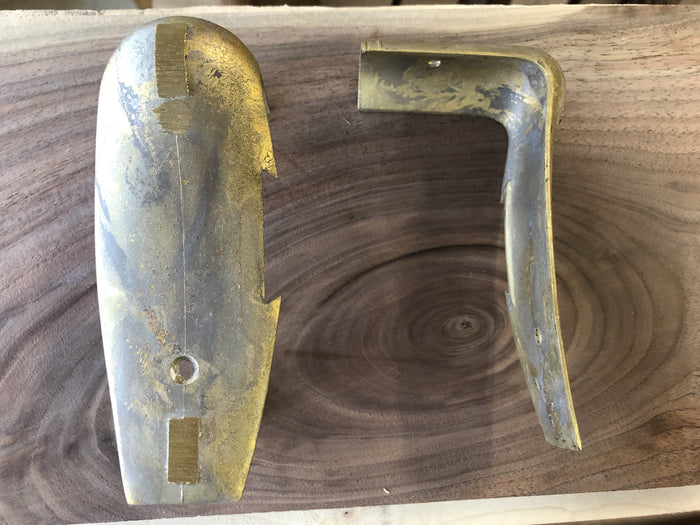 Colonial Kit Brass Buttplate, notched for box lid, wax cast