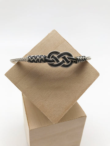 Hand Woven Two-tone Love Knot Bracelet