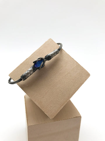 Hand Woven Bracelet with Colored Swarovski Crystal
