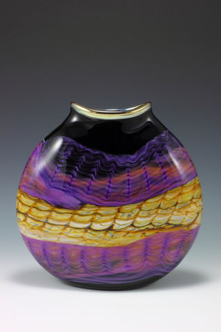 Amethyst Opal Flattened decorative Pouches vase vessel