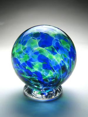 Blue Green Wishing Ball Gratitude Globe