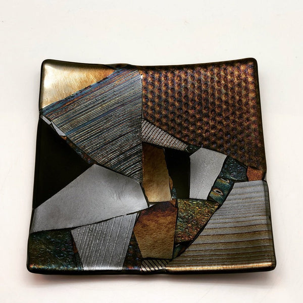 Fused Glass Plate - Chaos Design