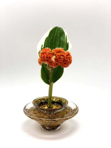 Transparent Lime Ikebana Vase