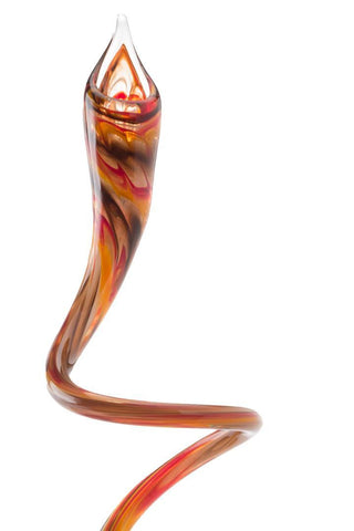 Orange Swirly Candle Sticks