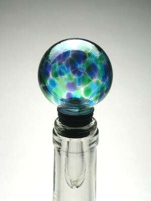 Iris Bottle Stopper Blue Green