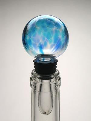 Light Blue Bottle Stopper