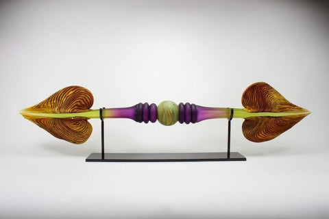"Amethyst & Lime Austral with Sphere Inclusion - 40"" Wide"