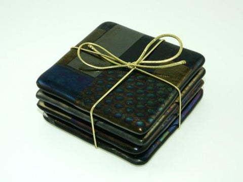 Black Iridescent Coasters