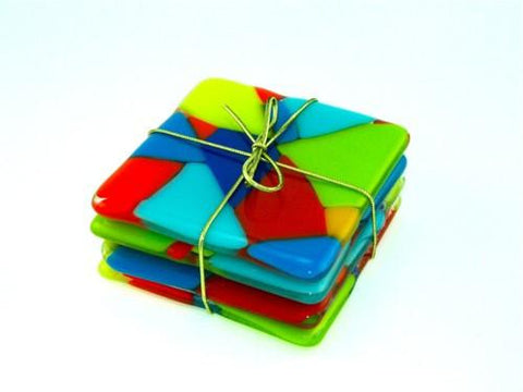 Opaque Coasters with Bright Colors