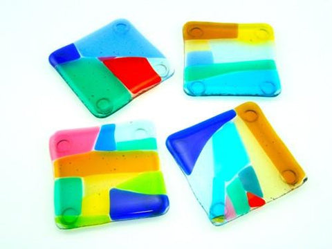 Translucent Coasters with Bright Colors