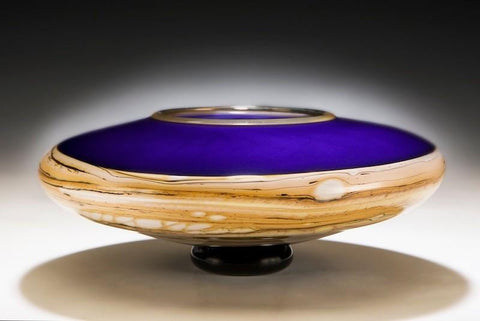 Amethyst Footed decorative blue Bowl