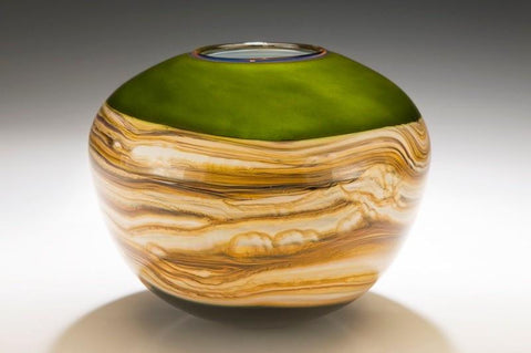 Lime Strata Sphere Vessel