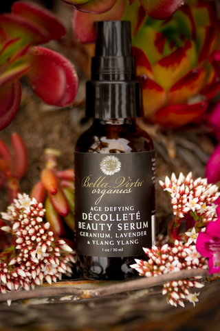 Decollete Beauty Serum With Geranium, Lavender & Ylang Ylang USDA Certified Organic