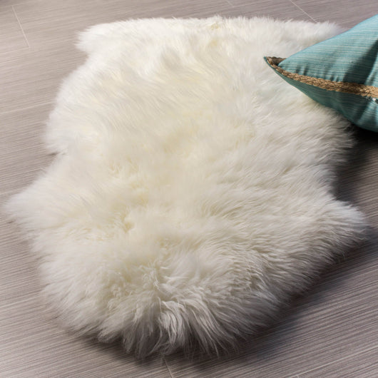 Premium Sheepskin Area Rug in Natural