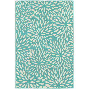 San Diego Outdoor Area Rug in Blue