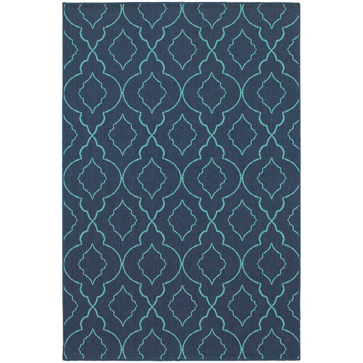 Honolulu Outdoor Area Rug in Navy
