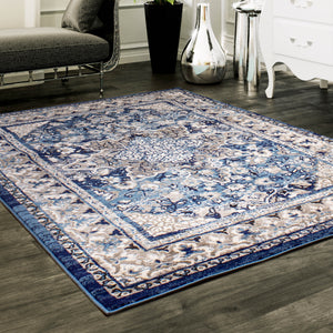 Artifact Traditional Rug in Blue & Gray