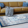 Artifact Traditional Rug in Blue & Ivory