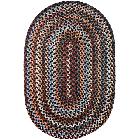 Tribeca Wool Braided Area Rug in Black Rock-Braided Rug-Super Area Rugs