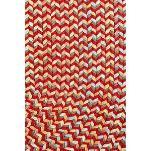 Confetti Bright & Bold 5-Carrier Braided Rug in Brilliant Red