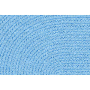 Lullaby Kids Solid Braided Rug in Aqua Blue