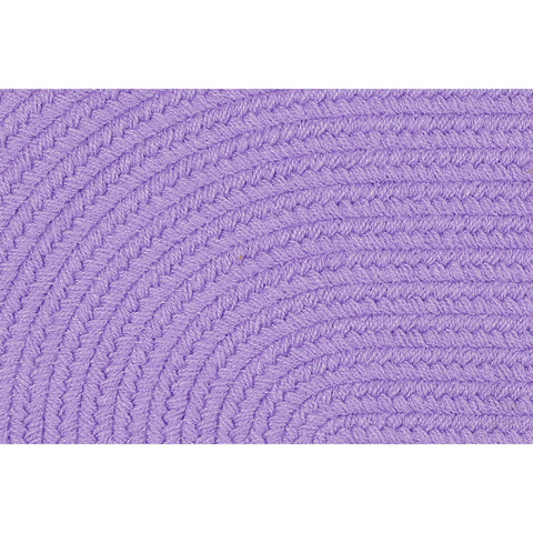 Hipster Braided Area Rug in Solid Violet