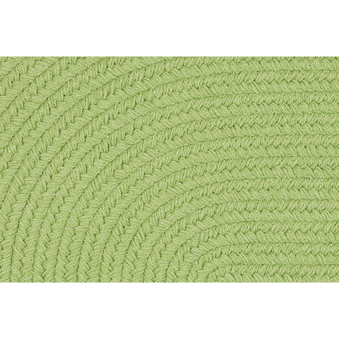 Hipster Braided Area Rug in Solid Lime Green