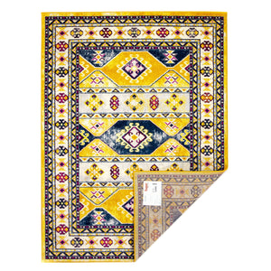 Parkerville Southwestern Diamonds Rug in Yellow, Cream
