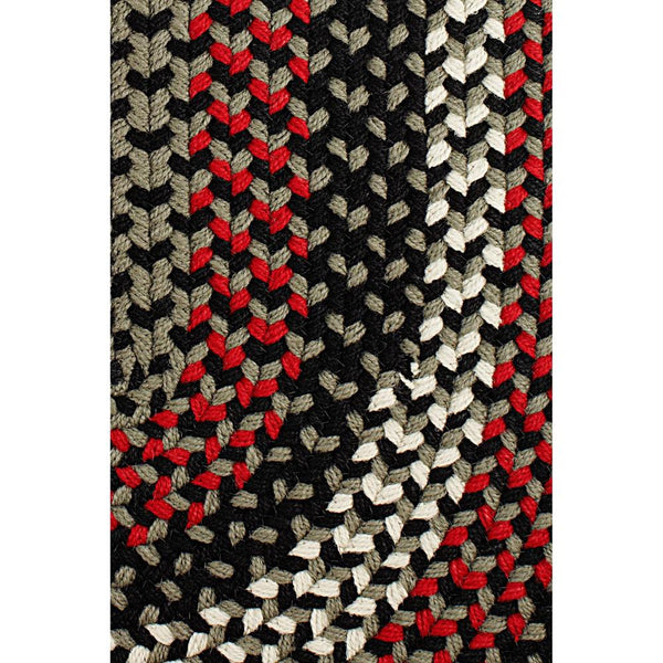 Homespun Braided Area Rug in Black Satin-Braided Rug-Super Area Rugs