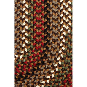 Santa Maria Traditional Braided Rug in Brown Fudge
