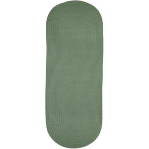 Maui Braided Solid Green Rug in Celadon Green