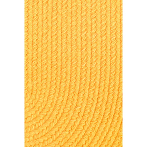 Maui Braided Bright Tropical Solid Rug in Daffodil Yellow