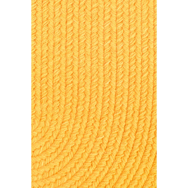 Maui Indoor / Outdoor Braided Area Rug in Daffodil Yellow-Braided Rug-Super Area Rugs