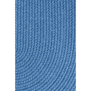 Maui Braided Rug in French Blue