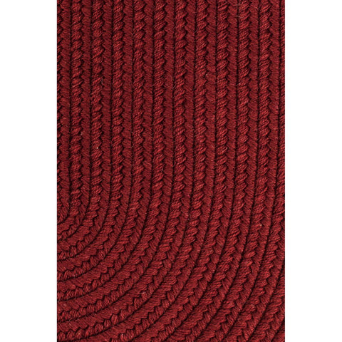 Pura Wool Braided Area Rug in Barn Red