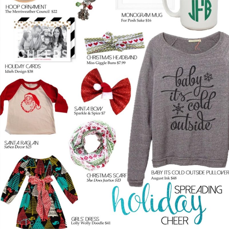 Baby It's Cold Outside Sweatshirt Featured in cupcake Magazine's Holiday Shopping Guide