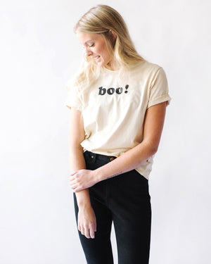 boo! Boyfriend Tee womens August Ink