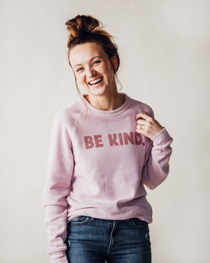 Be Kind Fleece Sweatshirt womens August Ink Small