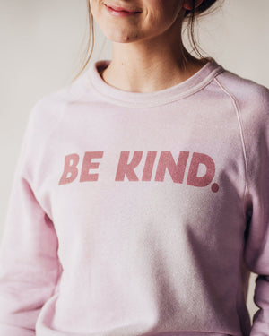 Be Kind Fleece Sweatshirt womens August Ink
