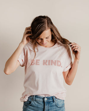 Be Kind Unisex Tee womens August Ink faded pink XS