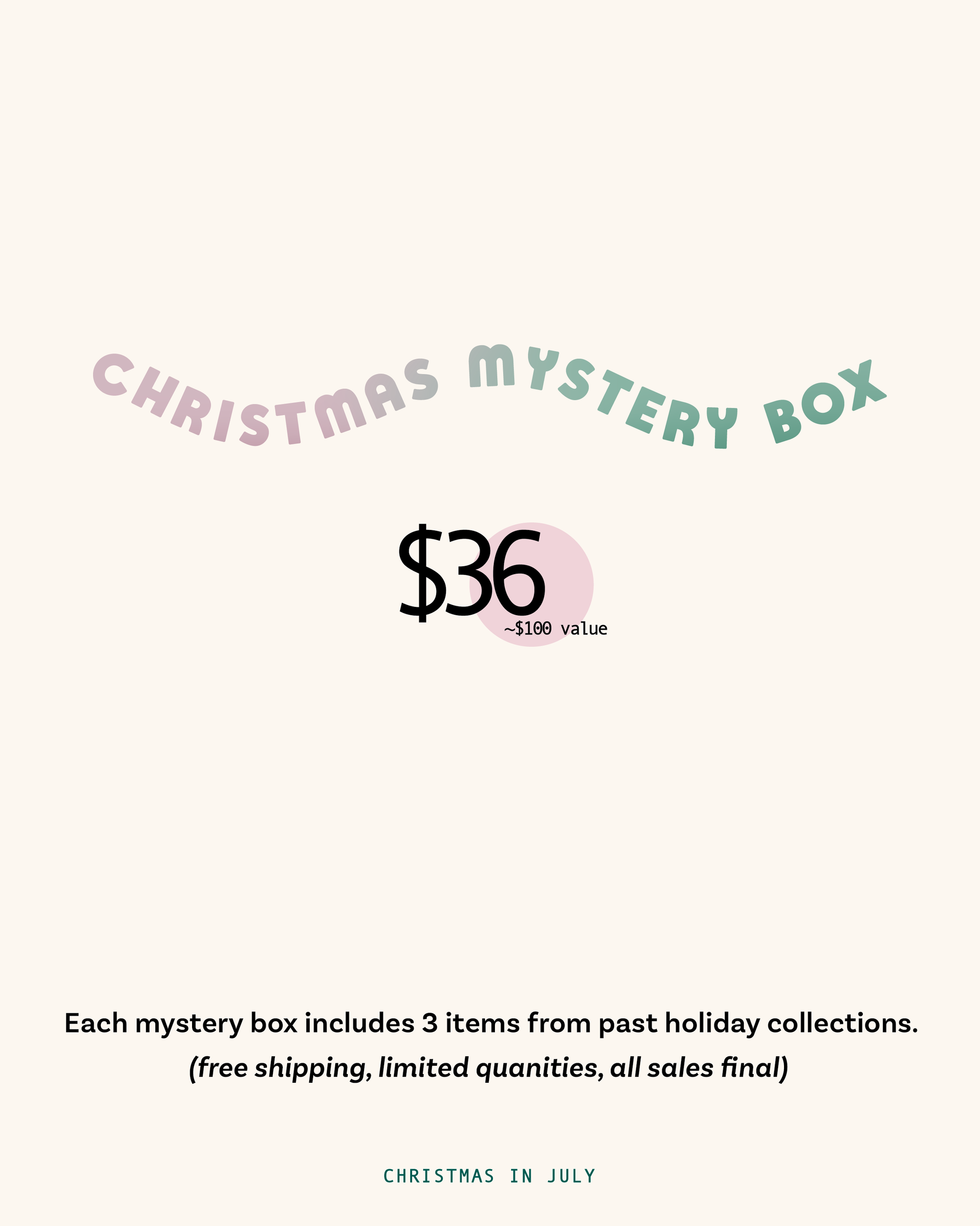 Christmas Mystery Box Special Edition August Ink