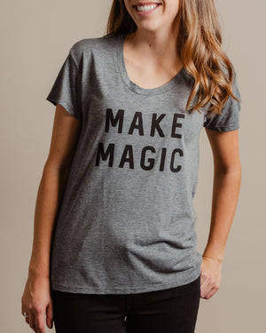 Make Magic Tee womens August Ink