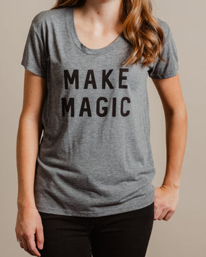 Make Magic Tee womens August Ink grey XS