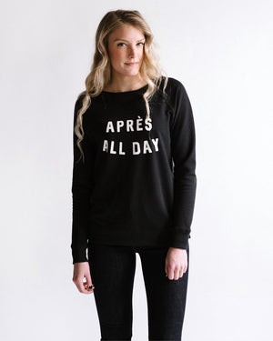 Après All Day Pullover womens August Ink Black small